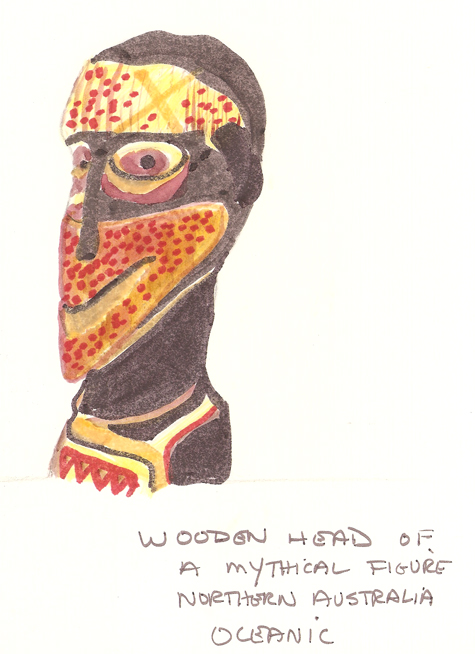 folklore archive wooden head
