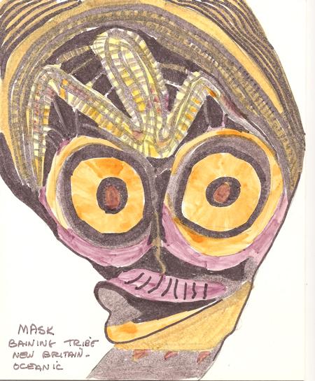 folklore archive mask baining tribe