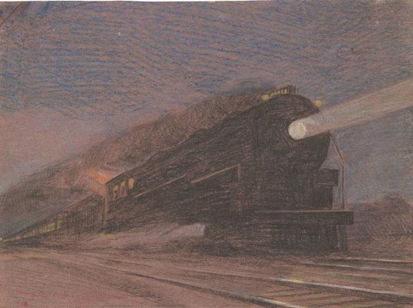 Night Train Express, St. Mary's Kansas, 1934
