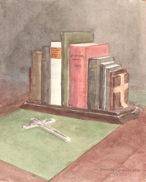 Books on Desk, 1937