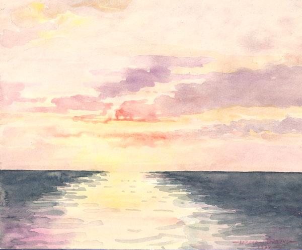 Sunset on Lake, 1937